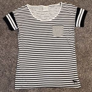 Black and white striped Victoria's Secret PINK tee